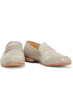DIEPPA RESTREPO Penny coated-leather loafers