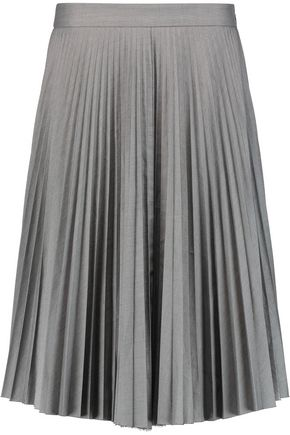 JOSEPH Pleated cotton skirt