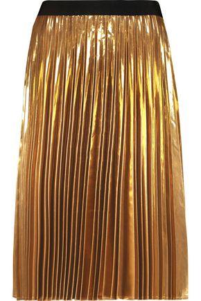 DKNY Pleated lamé skirt