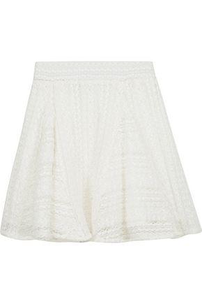 IRO Teejay cotton-blend lace mini skirt