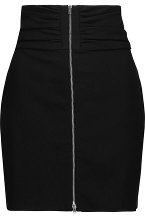 IRO Torie gathered crepe mini skirt