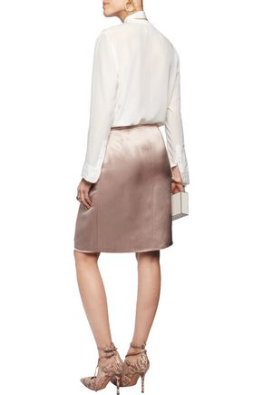 VALENTINO Silk-satin skirt