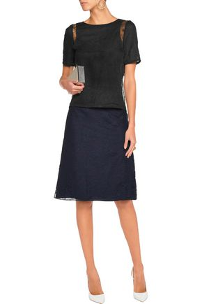 NINA RICCI Corded lace skirt