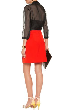 NINA RICCI Satin mini skirt