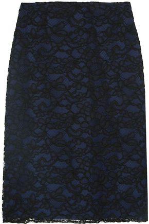 NINA RICCI Corded lace skirt