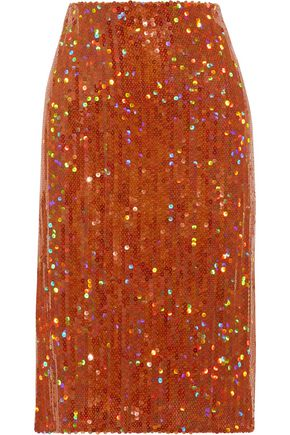 NINA RICCI Sequined crepe skirt