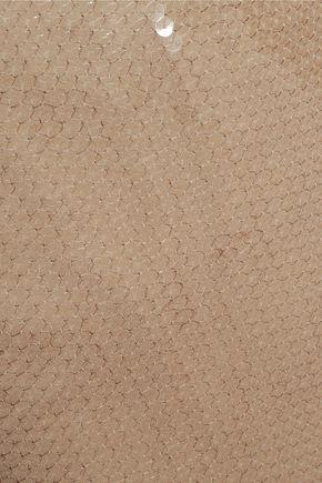 NINA RICCI Sequined silk skirt