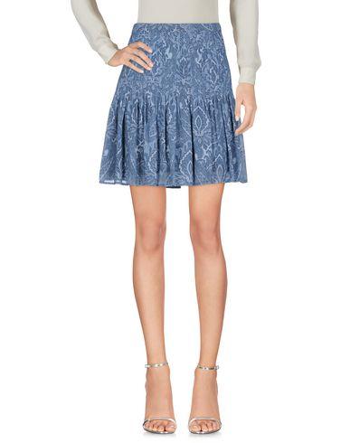 Фото - Мини-юбка грифельно-синего цвета