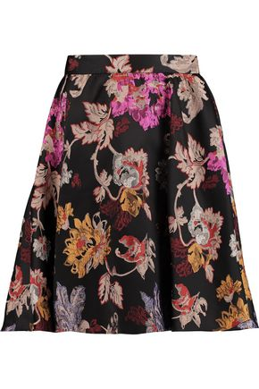 ALICE + OLIVIA Earla pleated jacquard mini skirt