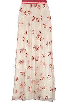 ALICE + OLIVIA Embellished tulle maxi skirt