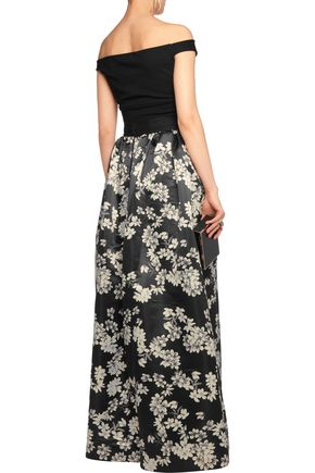 ALICE + OLIVIA Tina printed satin maxi skirt