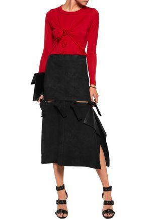 ACNE STUDIOS Hein cutout suede midi skirt