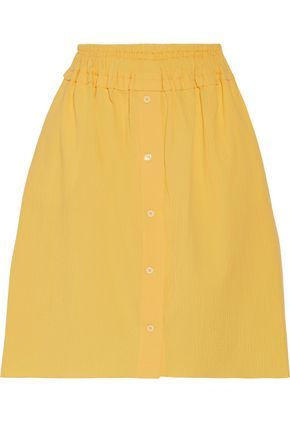CARVEN Cotton-blend seersucker skirt