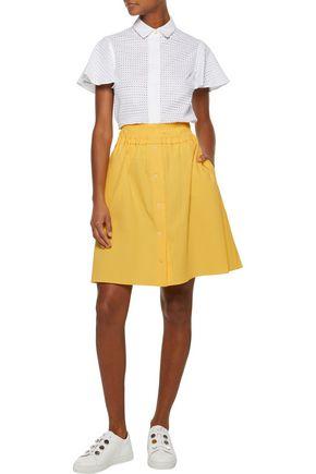 CARVEN Cotton-blend seersucker skirt
