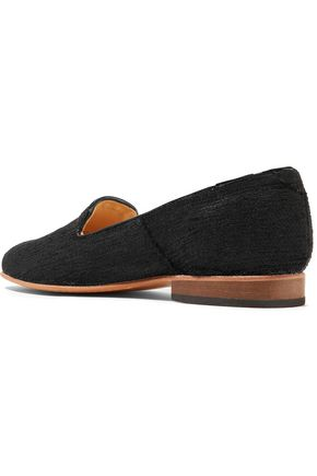DIEPPA RESTREPO Dandy polished-leather slippers