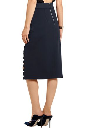 DION LEE Cutout tech-jersey skirt