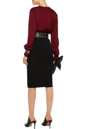 DION LEE Stretch-knit pencil skirt