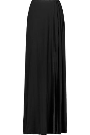 ALICE + OLIVIA Yasmine gathered stretch-jersey maxi skirt