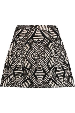 ALICE+OLIVIA Loran metallic jacquard mini skirt