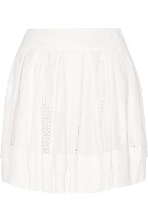 IRO Ginny crochet-trimmed georgette skirt