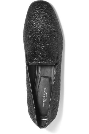MICHAEL KORS COLLECTION Roxanne metallic brocade loafers