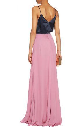 ROKSANDA Satie hammered silk-blend maxi skirt