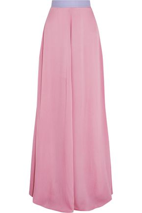 ROKSANDA Satie hammered silk-blend maxi skirt