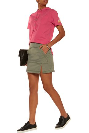 MARC BY MARC JACOBS Cotton-twill mini skirt
