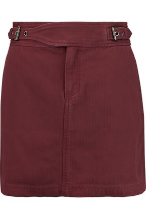 MARC BY MARC JACOBS Buckled cotton mini skirt