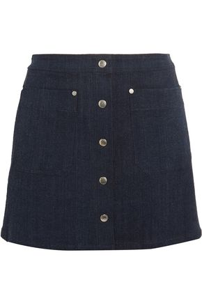 RAG & BONE Siggy cotton-blend chambray mini skirt