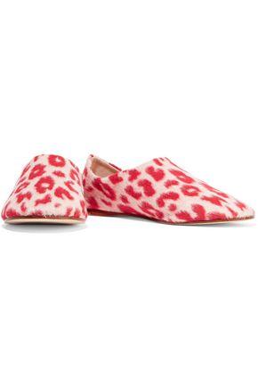 ACNE STUDIOS Agata leopard-print felt slippers