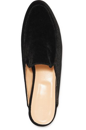 IRIS & INK Lois suede point-toe slippers