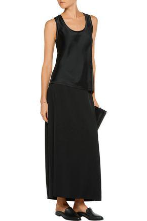 HELMUT LANG Stretch-crepe maxi skirt