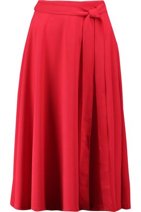 IRIS & INK Nancy crepe midi skirt