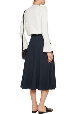 IRIS AND INK Nancy crepe midi skirt