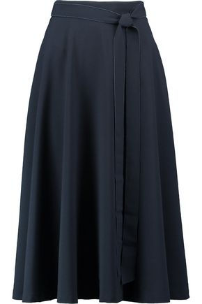 IRIS AND INK Nancy crepe midi skirt