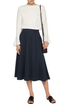 IRIS & INK Stretch-jacquard pencil skirt