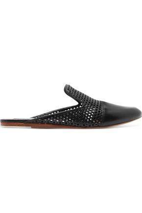 RAG & BONE Sabine perforated leather slippers