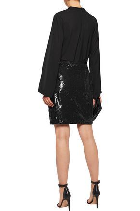 L'AGENCE Phoebe sequined crepe skirt