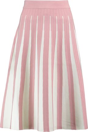 IRIS & INK Daisy pleated stretch-knit skirt
