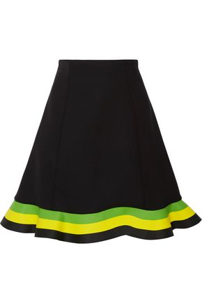 J.W.ANDERSON Orbit striped neoprene mini skirt