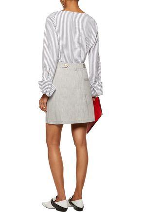 J.W.ANDERSON Zip-detailed cotton-twill mini skirt