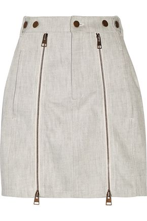 J.W.ANDERSON Zip-detailed cotton-twill mini skirt