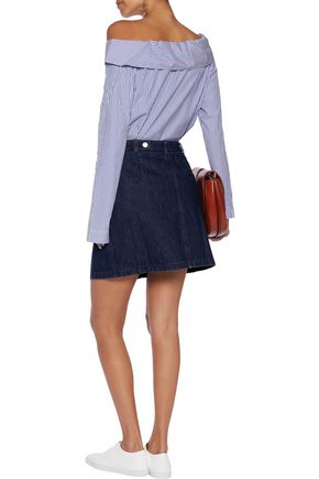 J.W.ANDERSON Zip-detailed denim mini skirt