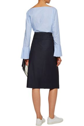 TOMAS MAIER Belted wool wrap skirt