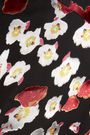 ALICE + OLIVIA Blaise flocked floral-print crepe de chine mini skirt