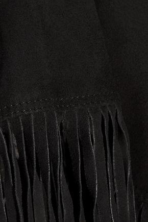 JOIE Lozita fringed suede mini skirt