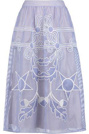 TEMPERLEY LONDON Dinah embroidered woven midi skirt