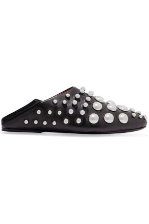 ALEXANDER WANG Edie studded leather slippers