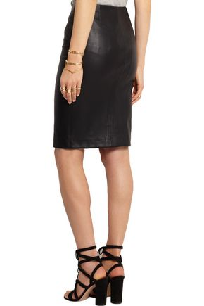 JOSEPH Claire leather pencil skirt